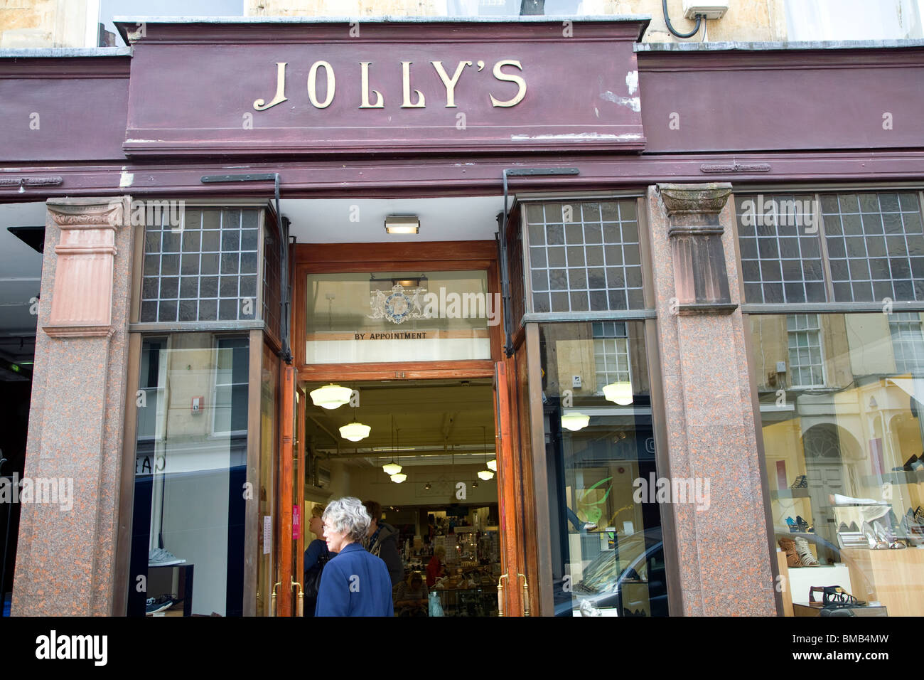 Jolly\'s department store sign, Milsom Street, Bath Stock Photo ...
