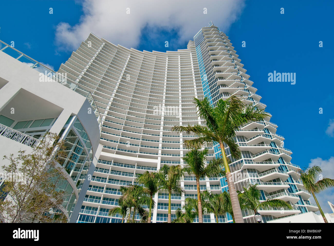 Paramount Bay condo tower on Biscayne Bay in Miami, Florida, USA - Stock Image