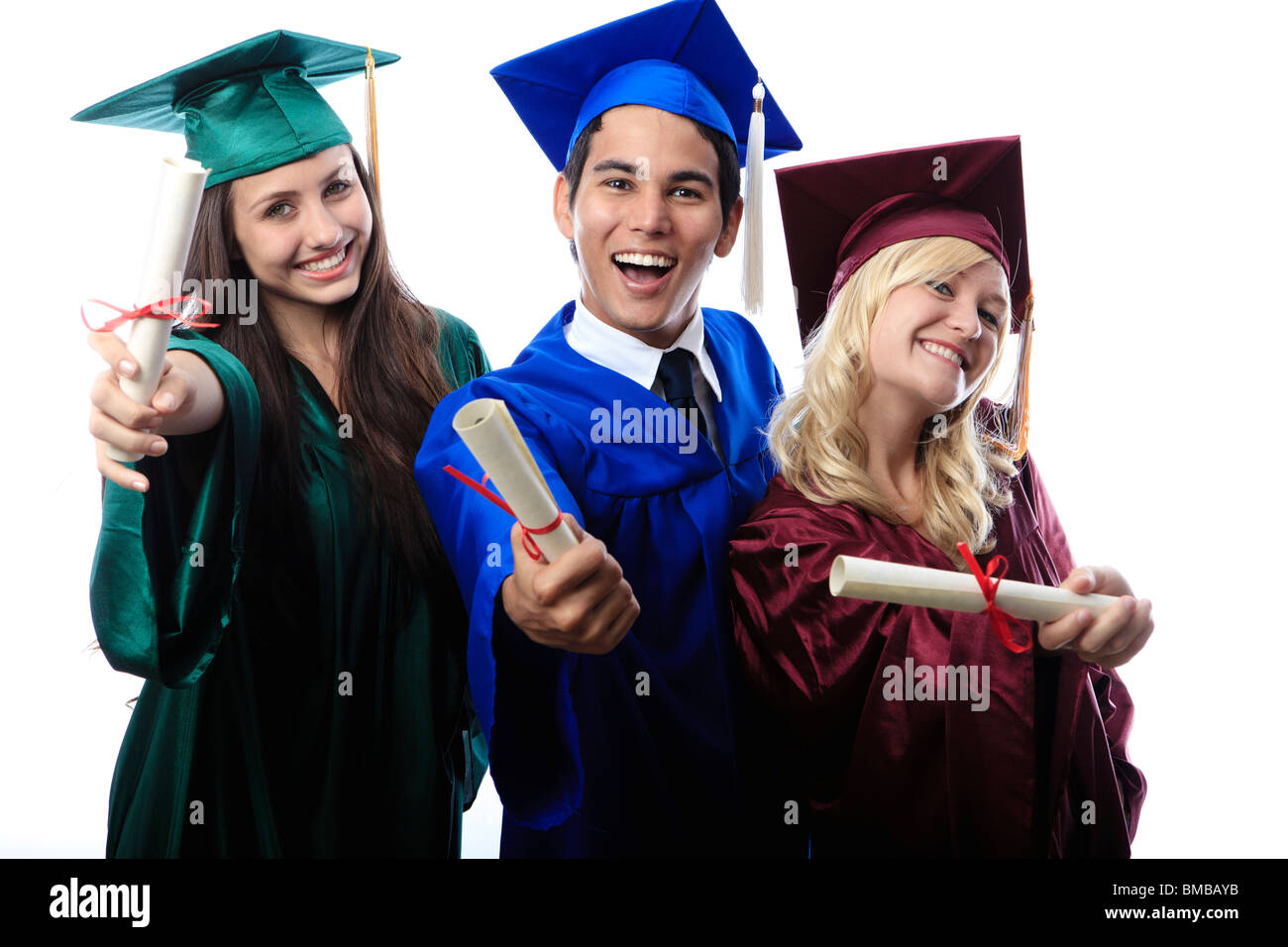 Green Cap And Gown Graduation Stock Photos & Green Cap And Gown ...