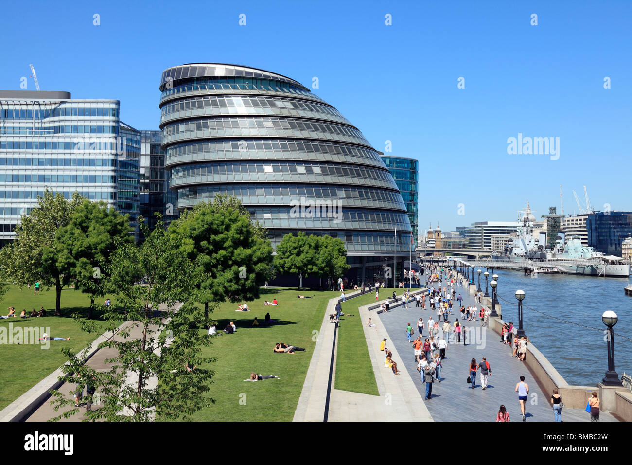 City Hall  London the headquarters for the Greater London Authority (GLA) and the Mayor of London. - Stock Image