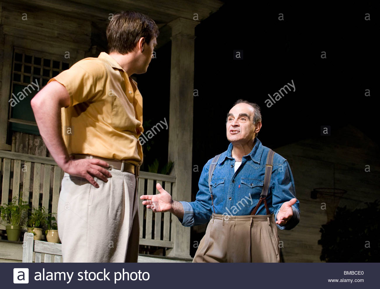 All My Sons by Arthur Miller,directed by Howard Davies.With Stephen Campbell Moore as Chris Keller,David Suchet - Stock Image