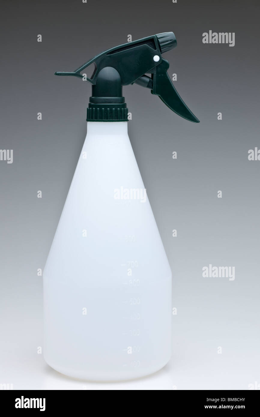 Plastic measured spray container - Stock Image