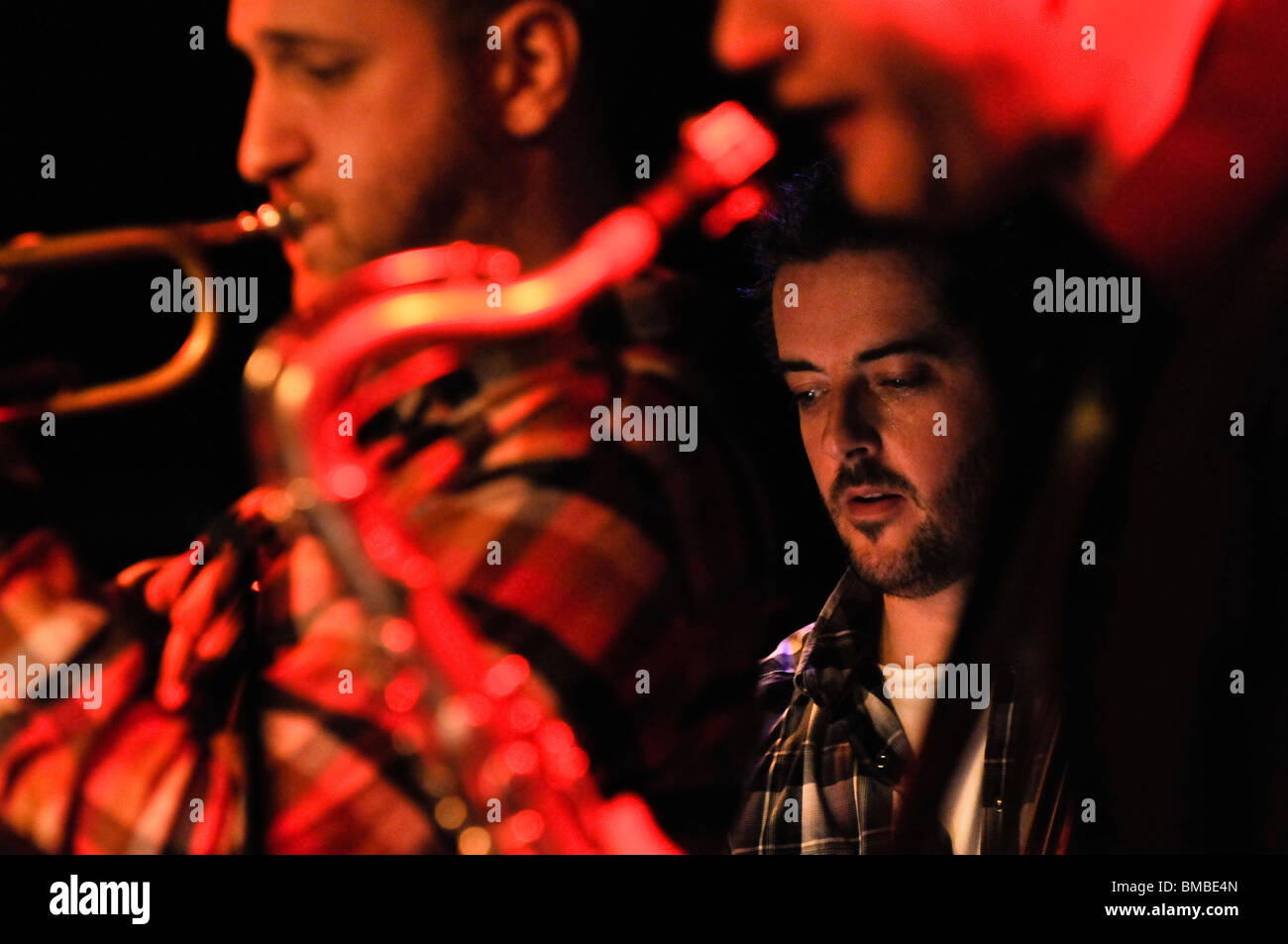 The Dave Kane Rabbit Project perform at the Black Box in Belfast as part of Moving On Music's festival - Stock Image