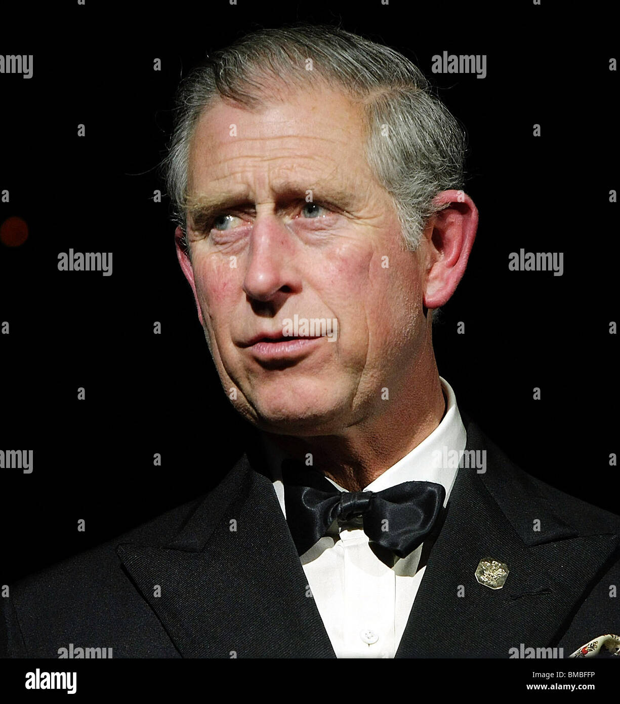 Britain's Prince Charles, the Prince of Wales making a speech at a black tie event in London - Stock Image