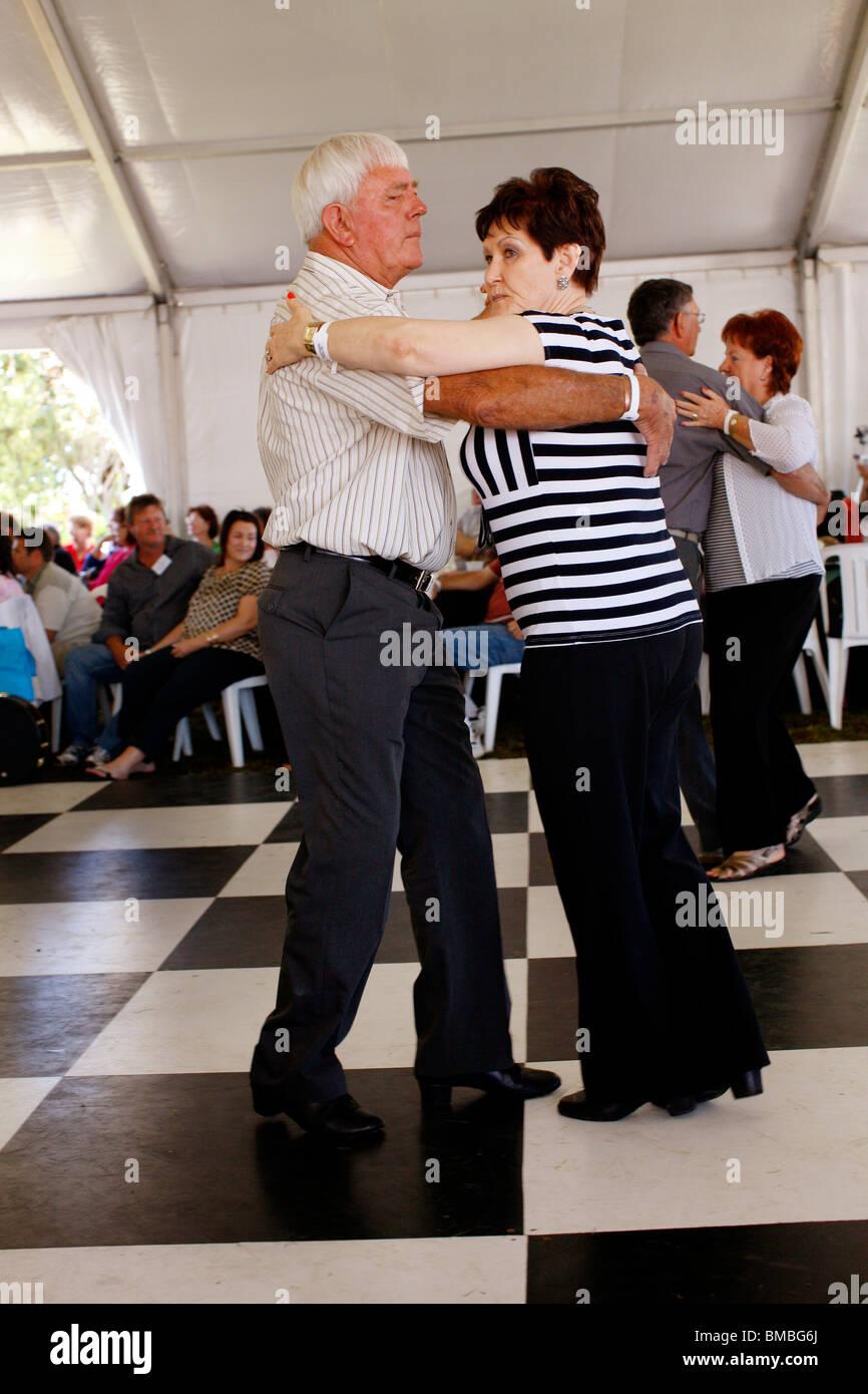 Langarm Traditional Afrikaans dancing - Stock Image