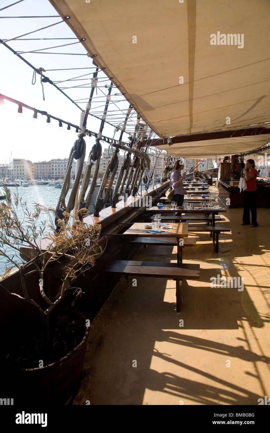 Marseille port restaurant stock photos marseille port - Restaurant libanais vieux port marseille ...