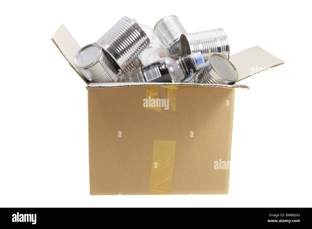 Box of Trash for Recycle - Stock Image