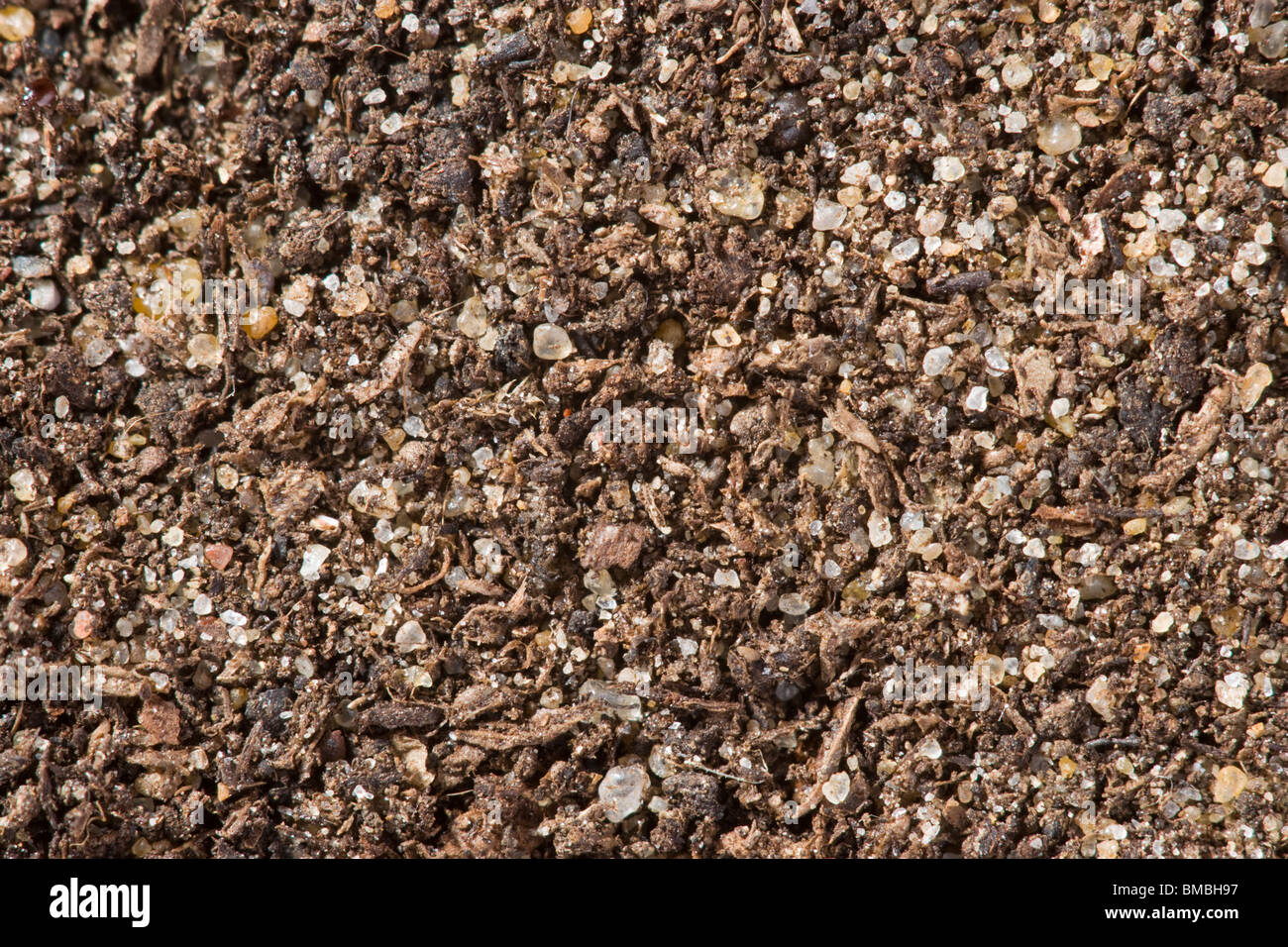 Soil in extreme close up - Stock Image