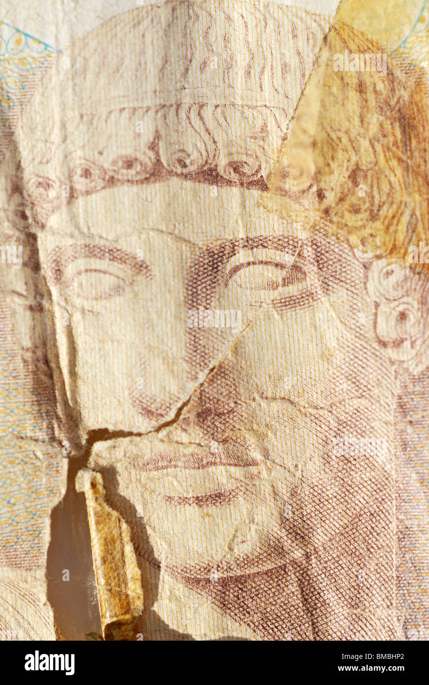Detail of 1000 Drachmen-Note, the old Greece Money - Stock Image