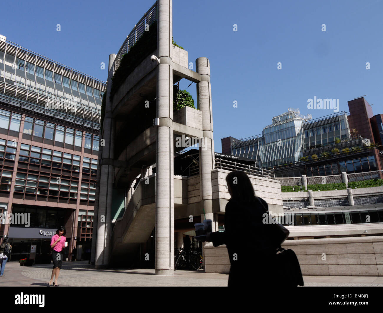 Broadgate office complex, London - Stock Image