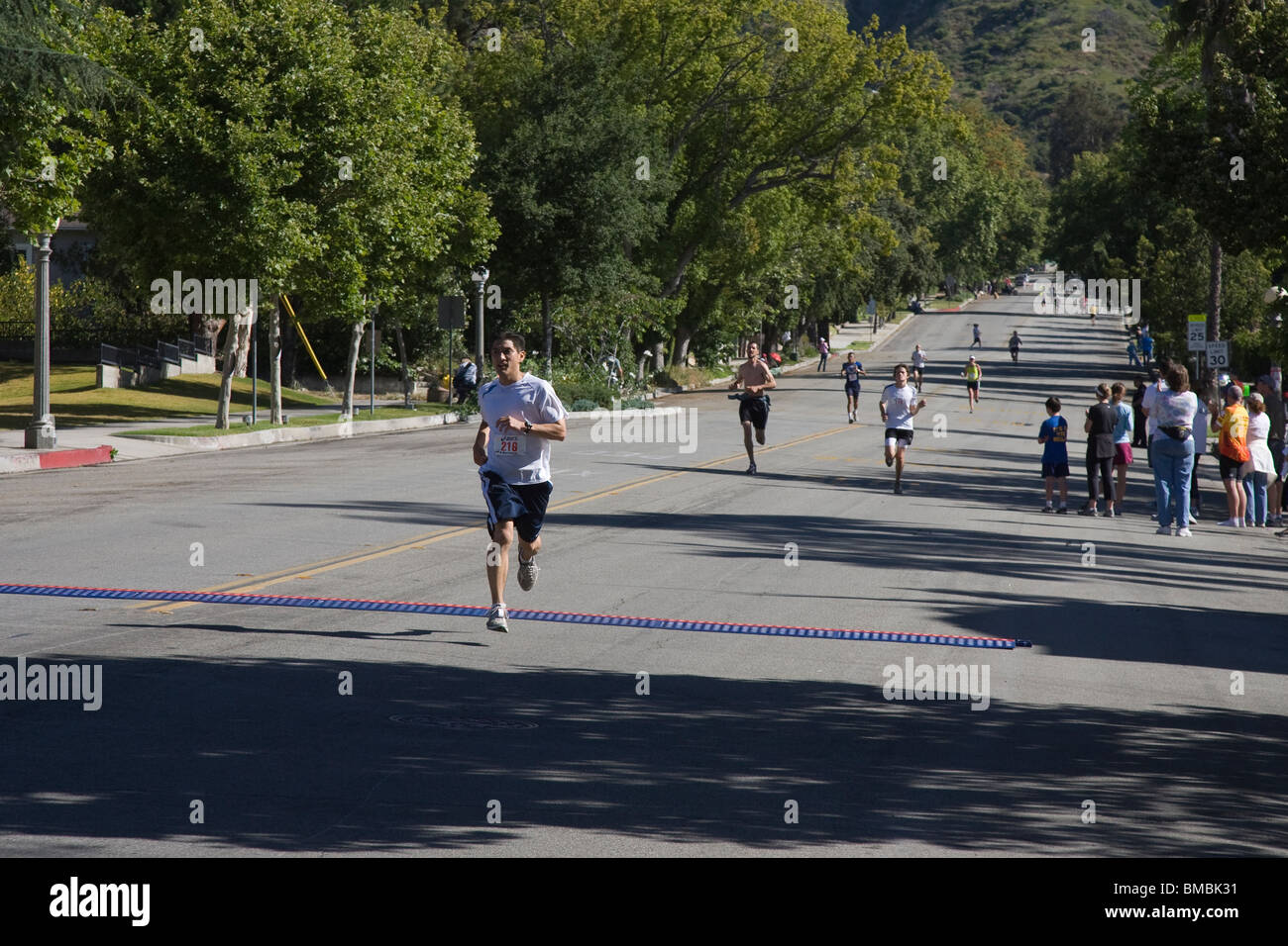 Runners Heading for the Finish Line - Stock Image