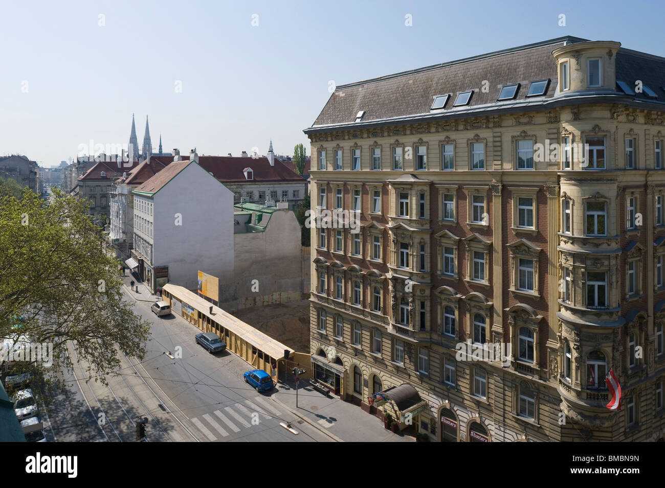 Wien, Währinger Straße, Baulücke Publizistikinstitut Stock Photo