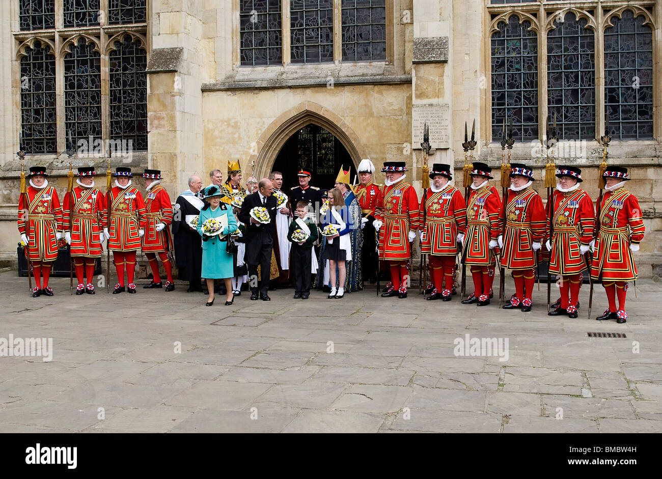 Britain's Queen Elizabeth II attend the Maundy Service at St Edmundsbury Cathedral, Bury St Edmunds, Suffolk - Stock Image