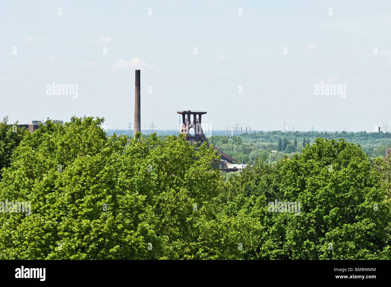 Zeche Zollverein Schachtzeichen Zollverein coal mine shaft sign European Capital of Culture 2010 - Stock Image