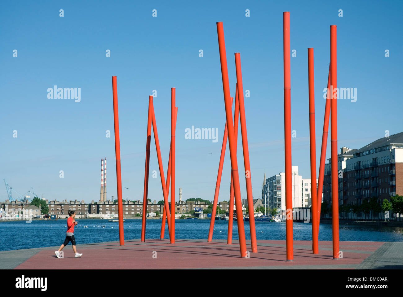 Grand Canal Square, Dublin - Stock Image