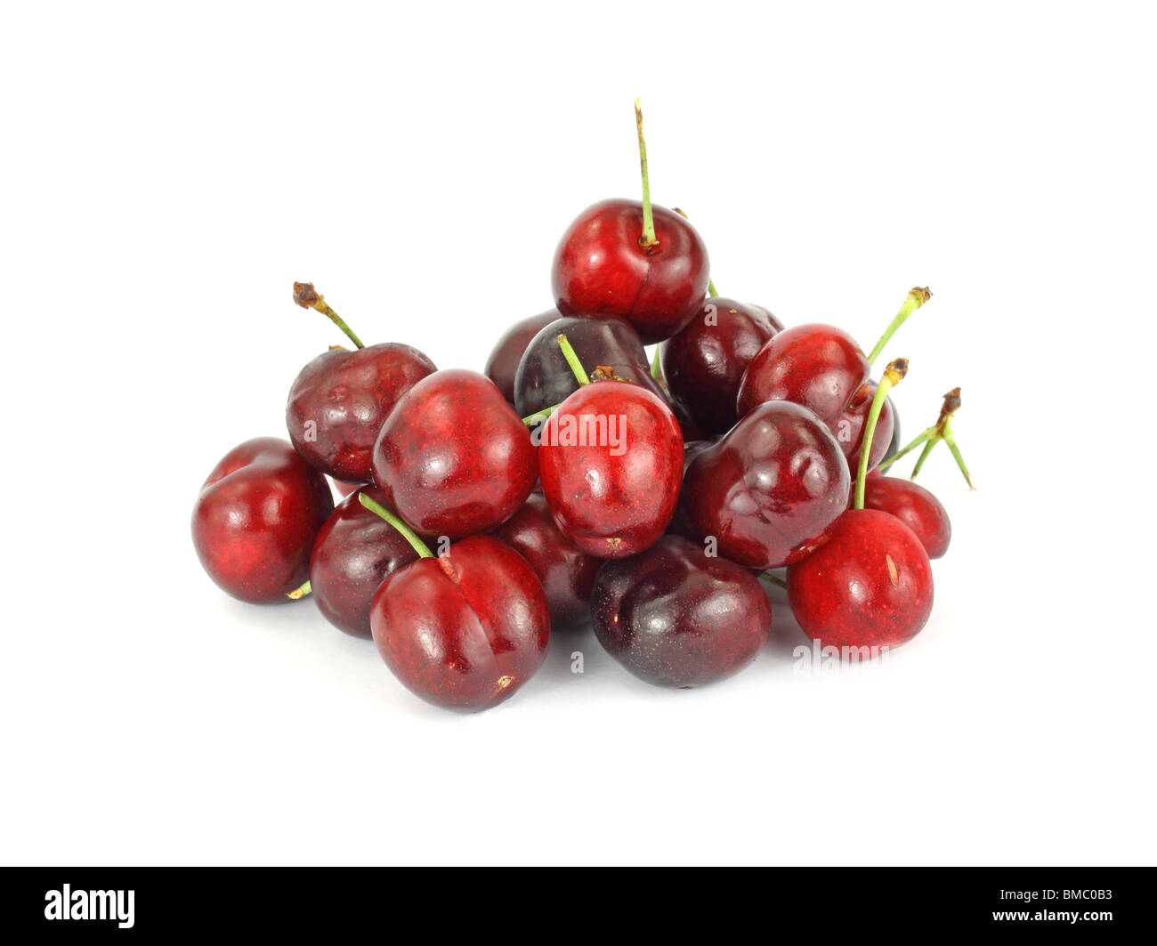 Group of red cherries Stock Photo