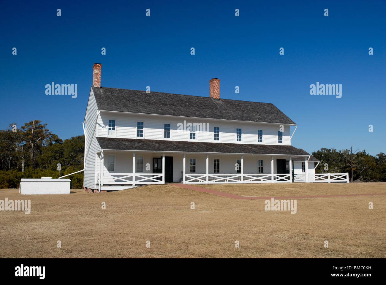 Cape Hatteras Lighthouse Keepers Quarters Stock Photo