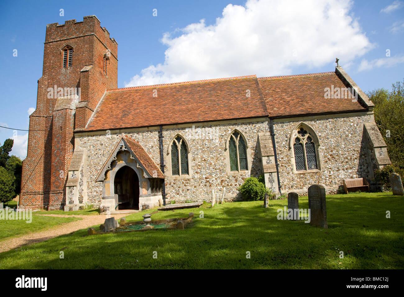 Church of All Saints, Hemley, Suffolk - Stock Image