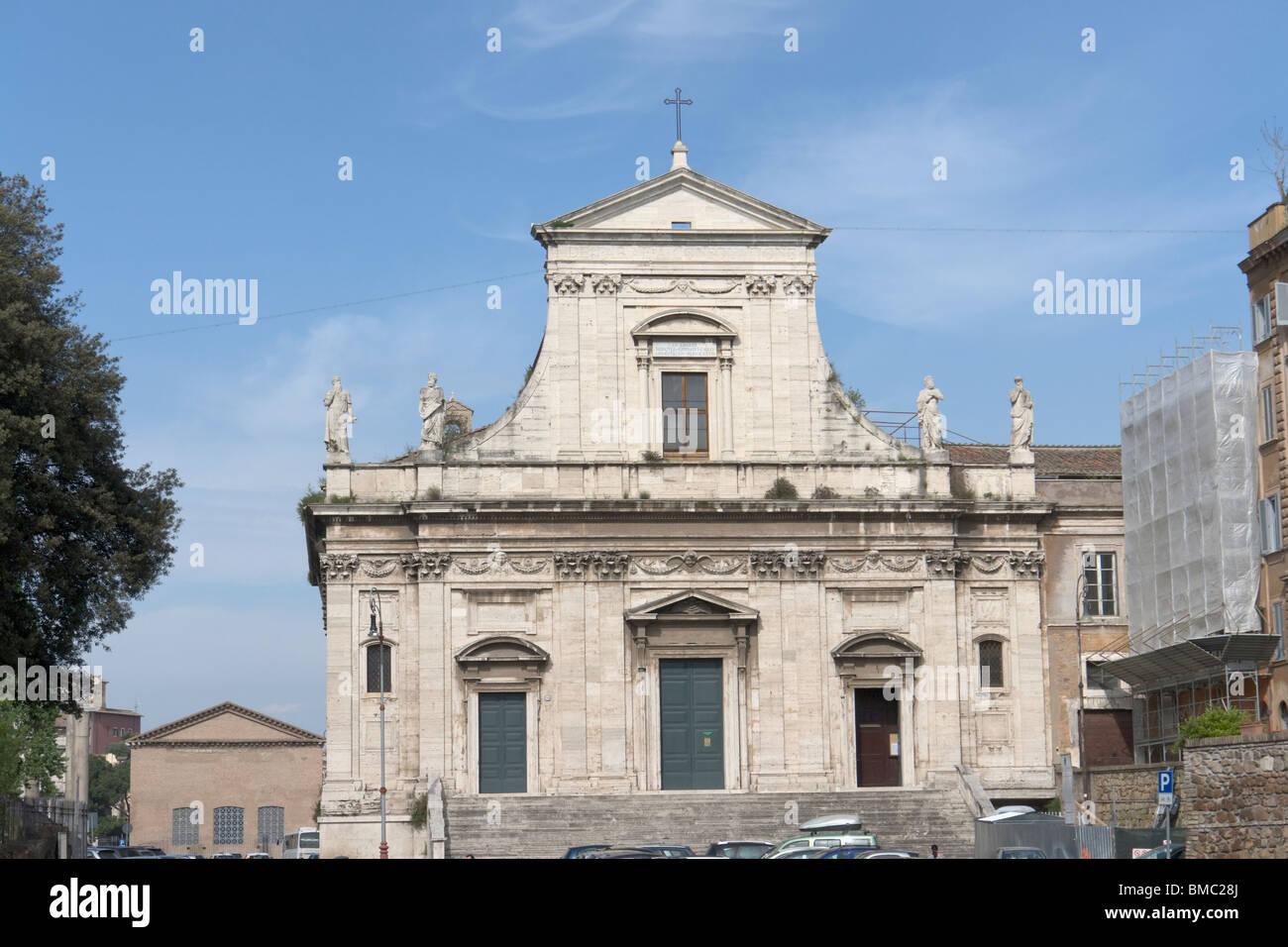 Rome, Italy. The church Santa Maria della Consolazione on the slopes of the Capitoline Hill. - Stock Image