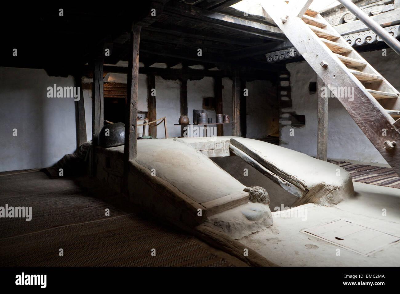 Inside Baltit Fort, Karimabad, Pakistan - Stock Image
