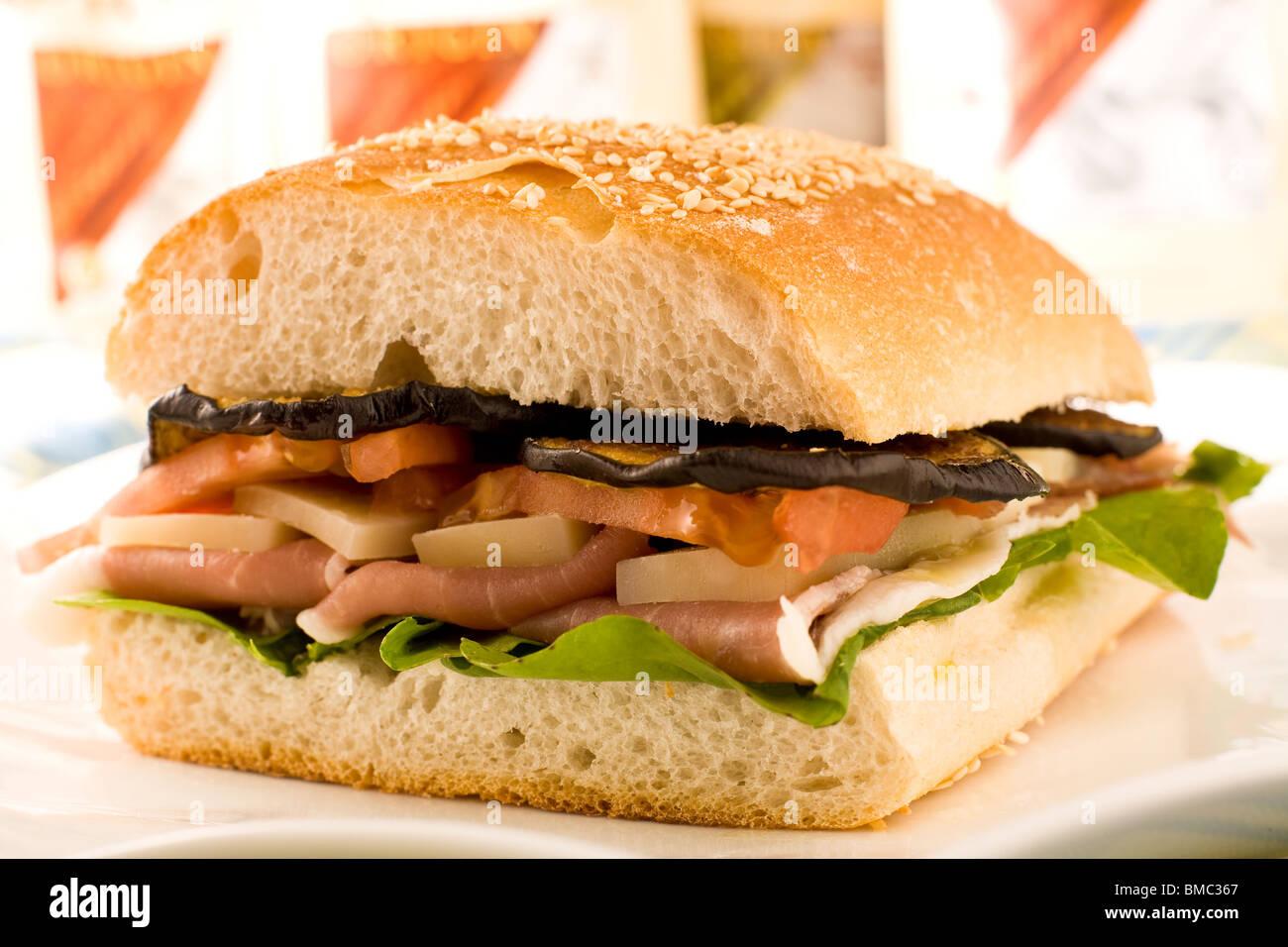Multi layered sandwich - Stock Image