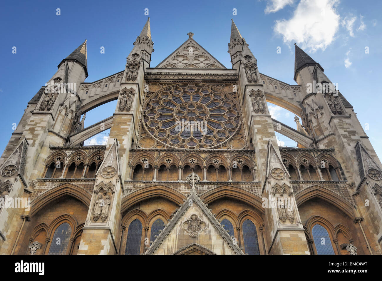 North Entrance of Westminster Abbey Stock Photo