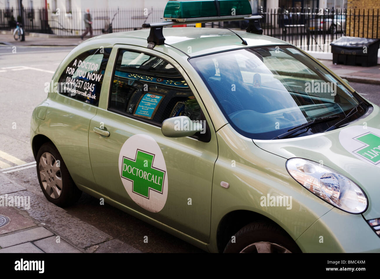 Doctorcall car,Private Medical emergencies, Manchester Street, London, England, UK, Europe - Stock Image