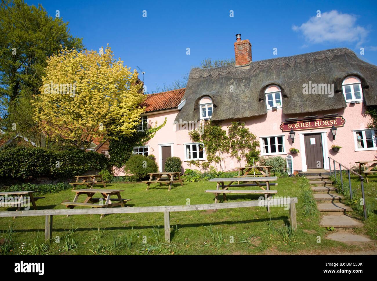 Sorrel Horse pub, Shottisham, Suffolk - Stock Image