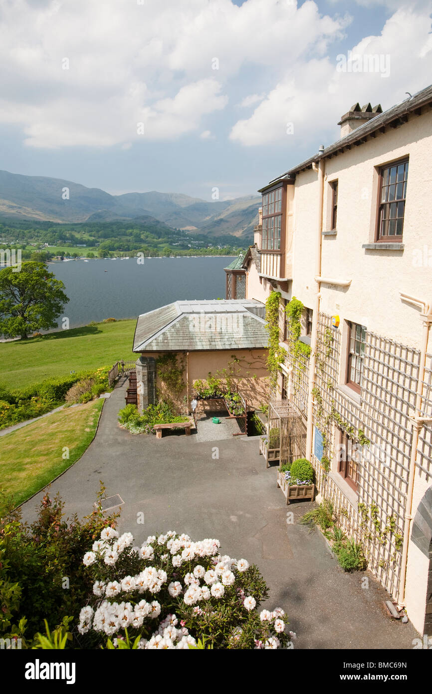 Brantwood House, the home of the artist, John Ruskin above Coniston Water, Lake District, UK. - Stock Image
