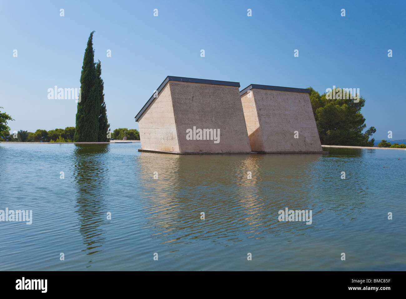 Roof at Fundacio Pilar I Joan Miro Foundation Cala Major Majorca Mallorca Spain Europe - Stock Image