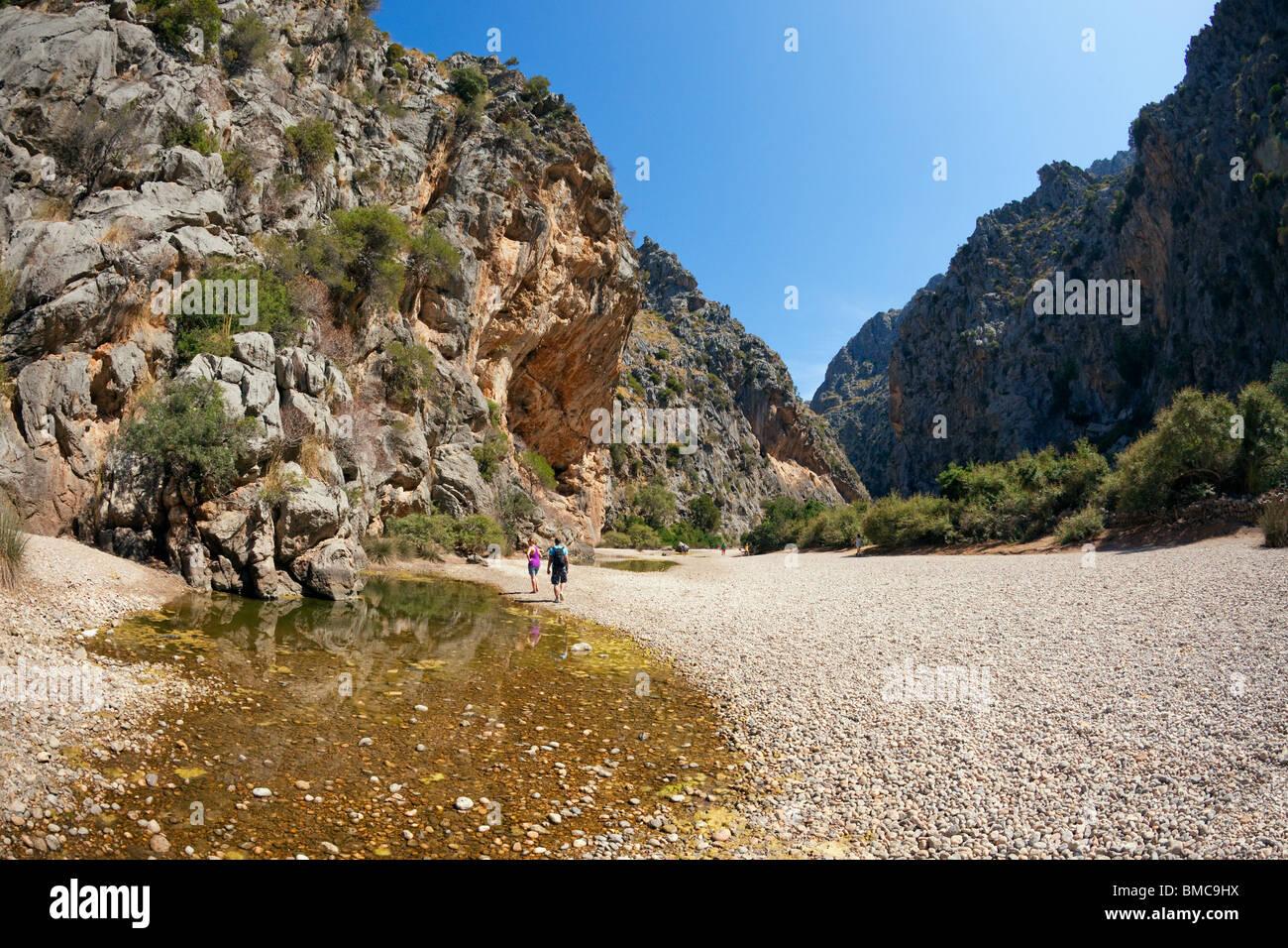 Torrent de Pareis Gorge Sa Calobra northern Majorca Mallorca Balearic Islands Spain Europe EU - Stock Image