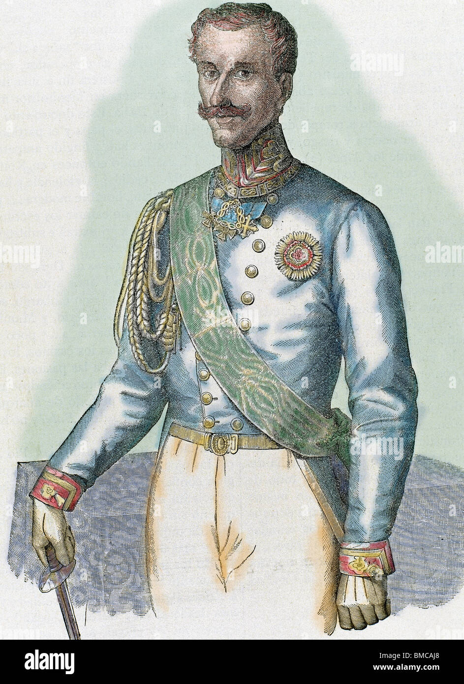 Charles Albert (Turin 1798-Porto, Portugal, 1849). King of Sardinia (1831-1849). Stock Photo