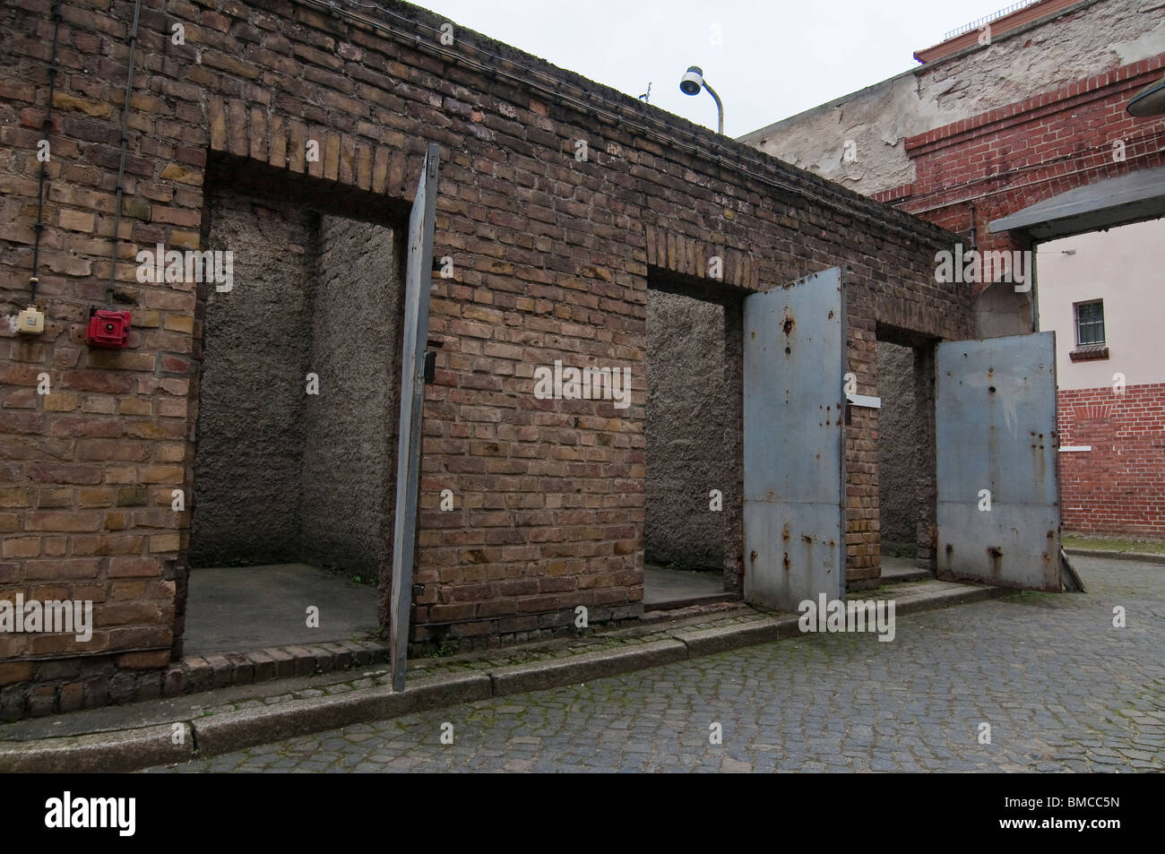 Courtygard, Former prison of the state security service of the GDR, Potsdam, Brandenburg - Stock Image