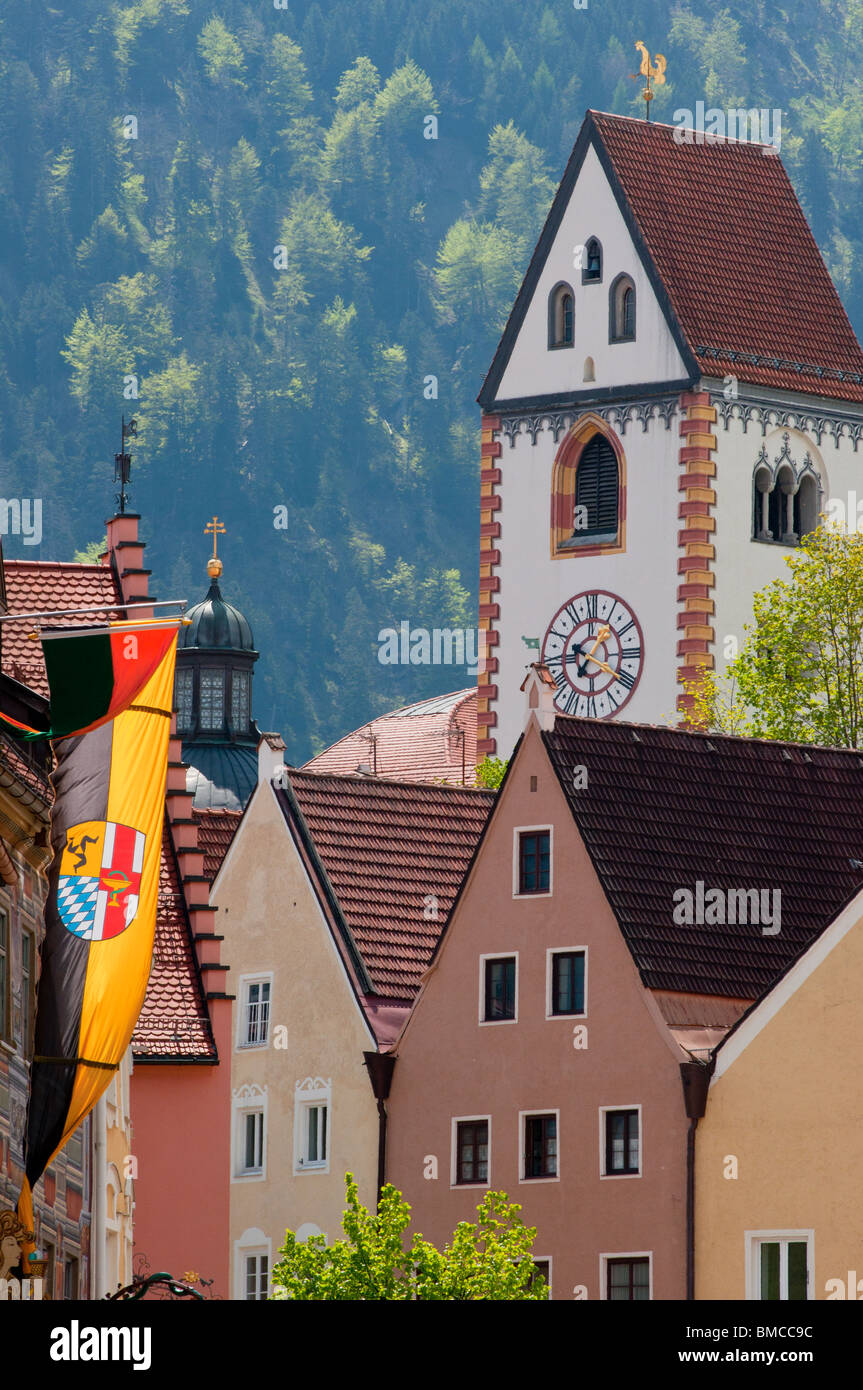 Füssen on the 'Romantic road' in Bavaria, Germany - Stock Image