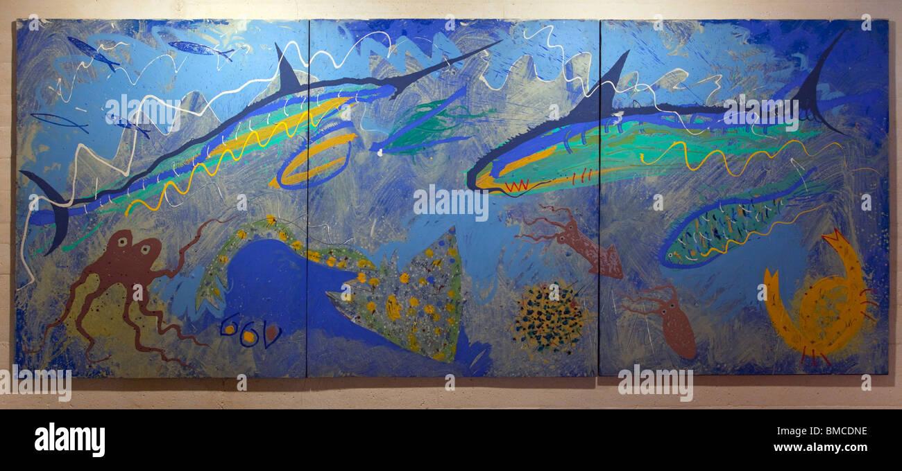 Untitled painting by Miquel Barcelo at Fundacio Pilar I Joan Miro Foundation Cala Major Majorca Mallorca Spain Europe Stock Photo