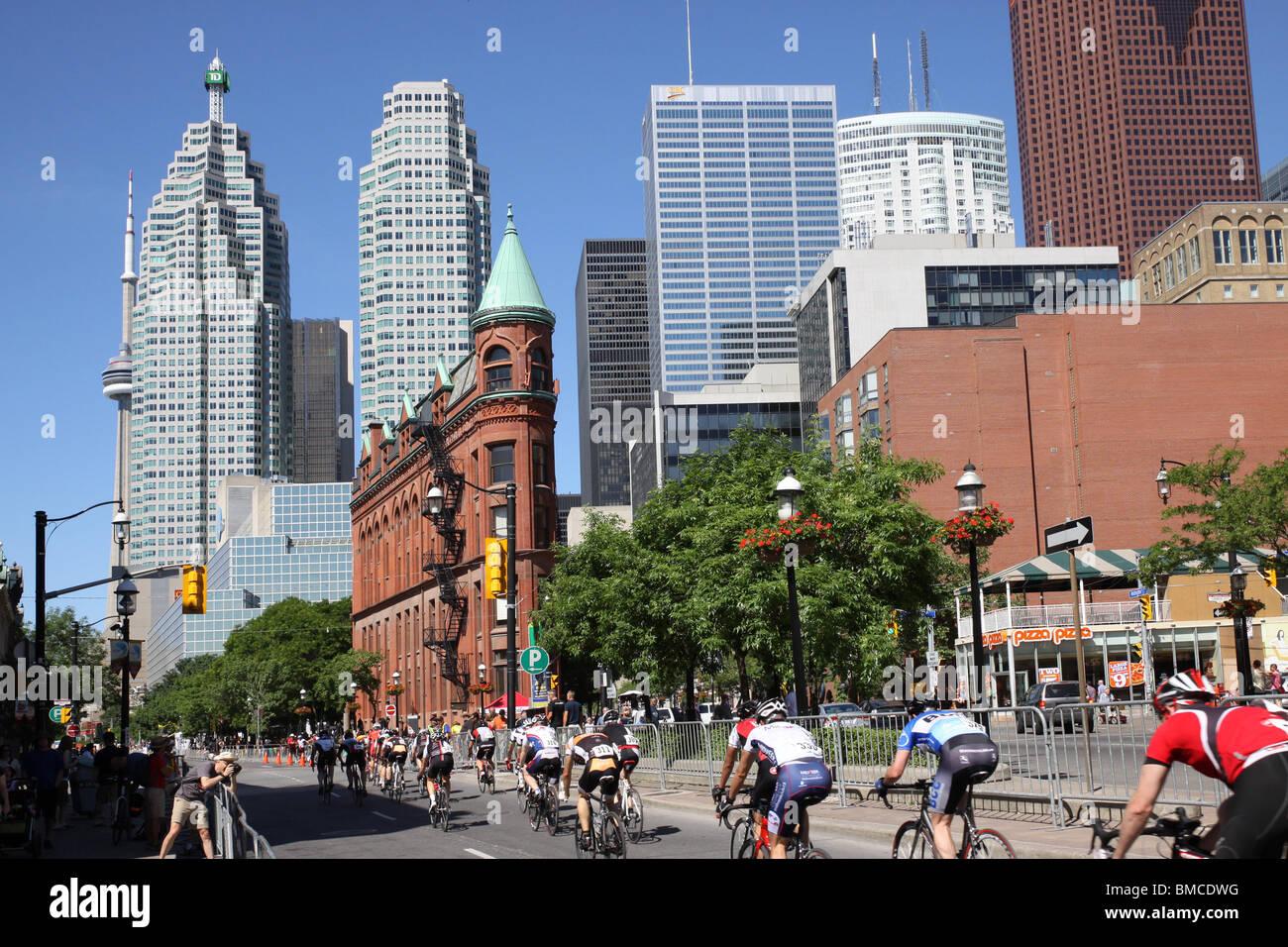 Toronto Criterium Bicycle Race, 2010 Stock Photo