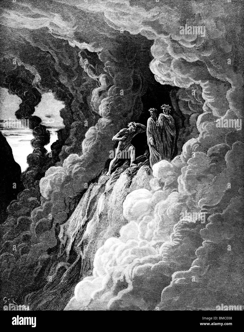 The wrathful in smoke 2 Stock Photo