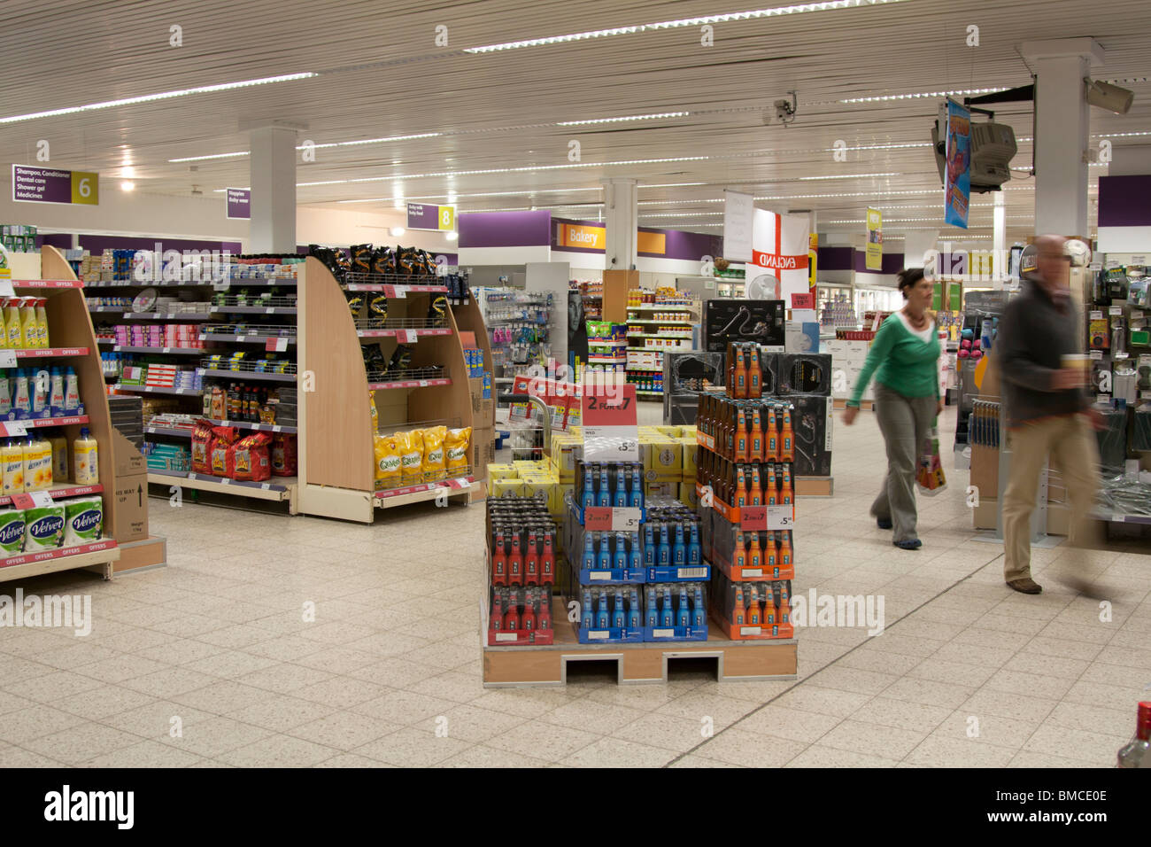 British Navy, Army and Air Force Institutes (NAAFI) Supermarket - Rheindahlen Military Complex  - Mönchengladbach - Stock Image