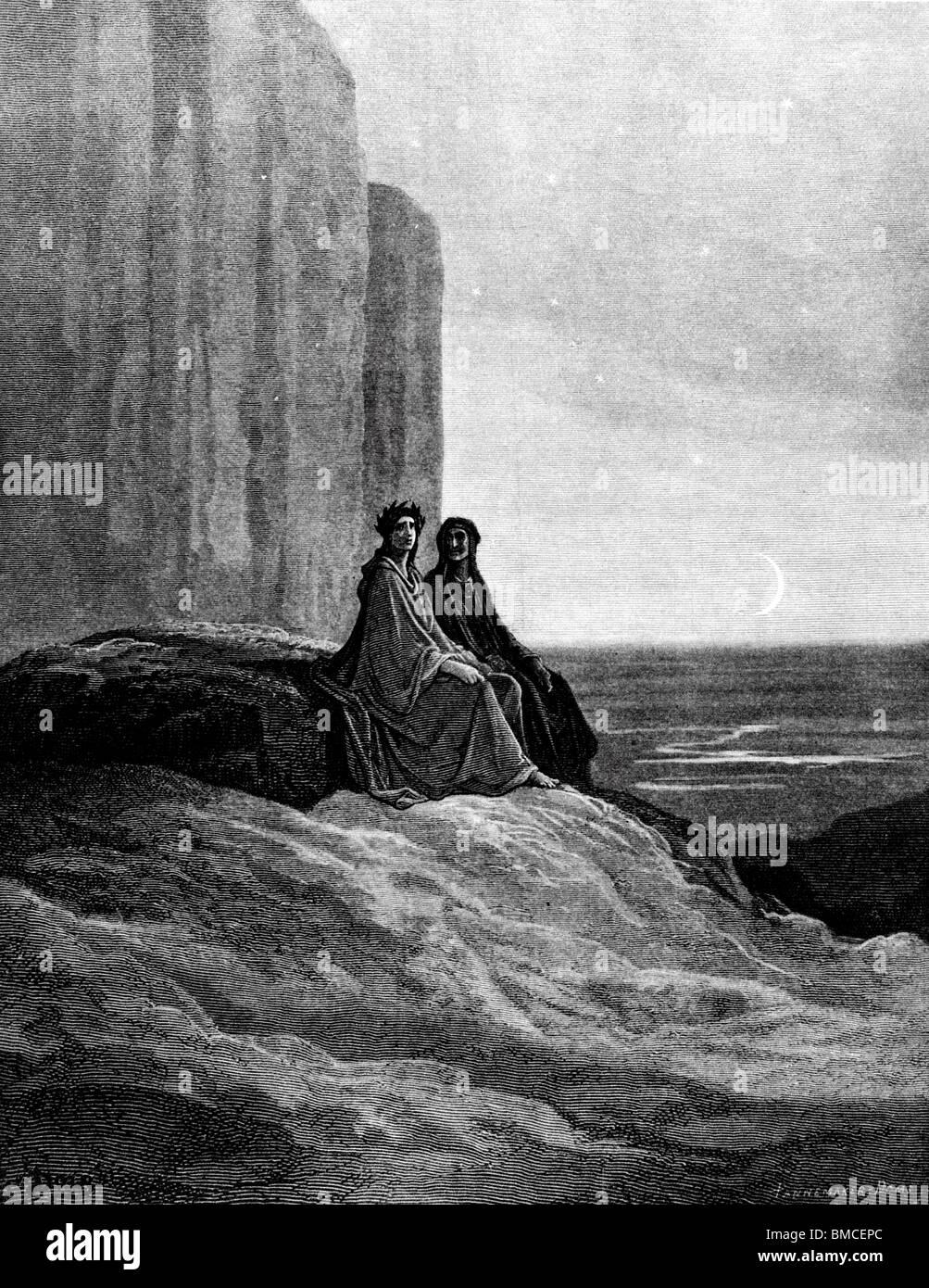 Dante and Virgil in Moonrise - Stock Image