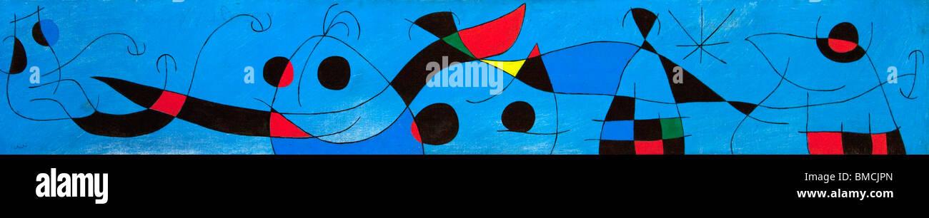Painting by Joan Miro at Fundacio Pilar I Joan Miro Foundation Cala Major Majorca Mallorca Spain Europe - Stock Image