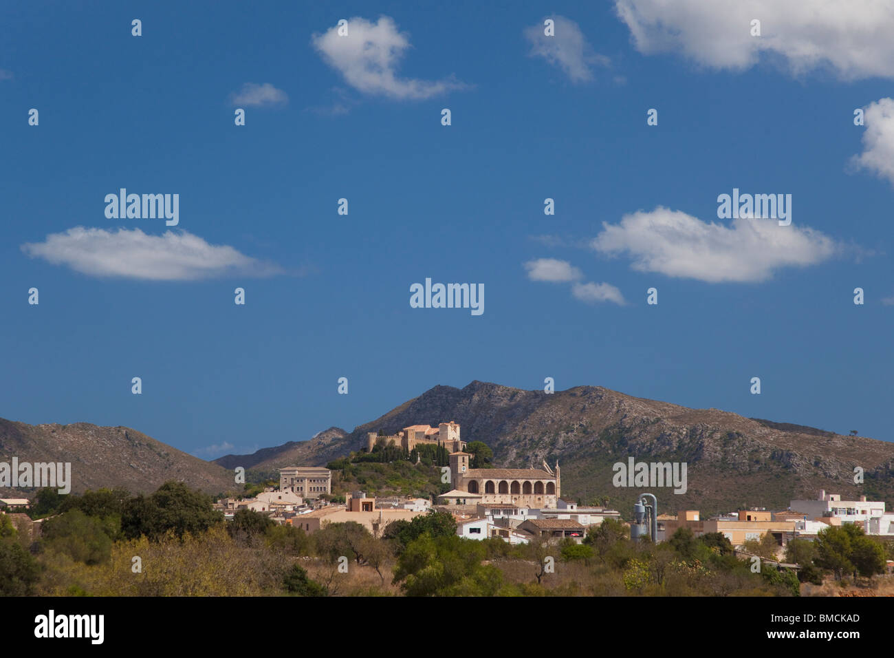 Hilltop town of Arta in northeastern Majorca Mallorca Spain Europe EU - Stock Image