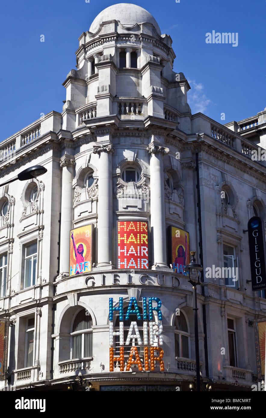 Hair Show The Gielgud Theatre Shaftesbury Avenue London UK - Stock Image