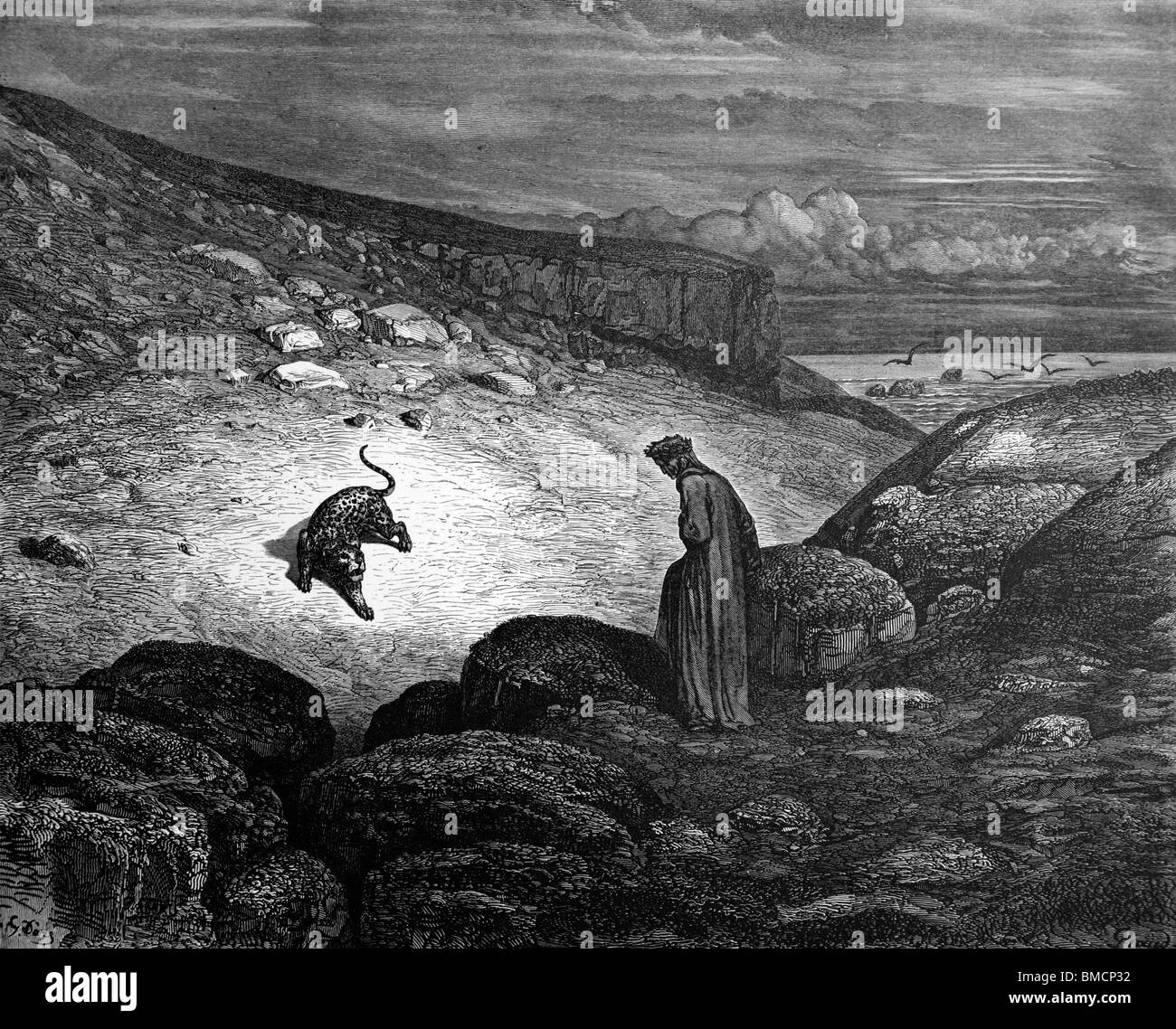 Engraving by Gustave Doré from Dante Alighieri's Divine Comedy 'Inferno' or 'Visions of Hell'; - Stock Image