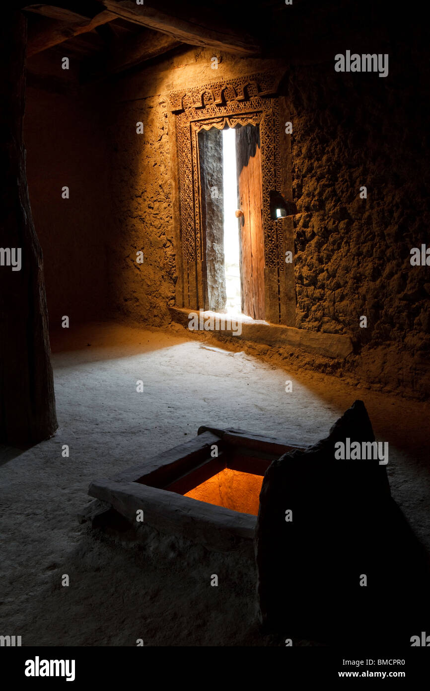 The interior of Altit Fort, Hunza, Pakistan - Stock Image