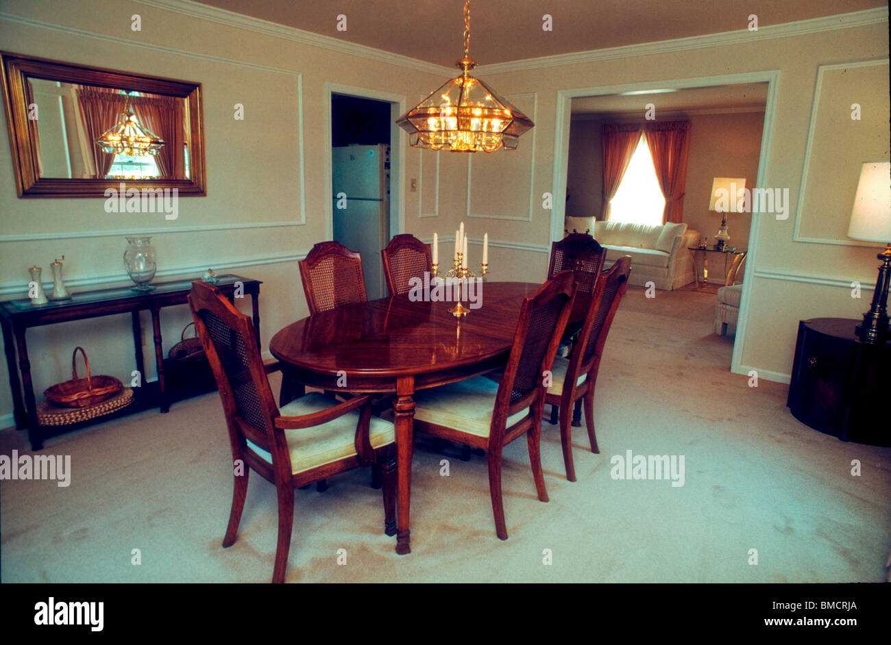 Pittsburgh Pa Usa Inside Classical Dining Room Wooden Furniture Stock Photo Alamy