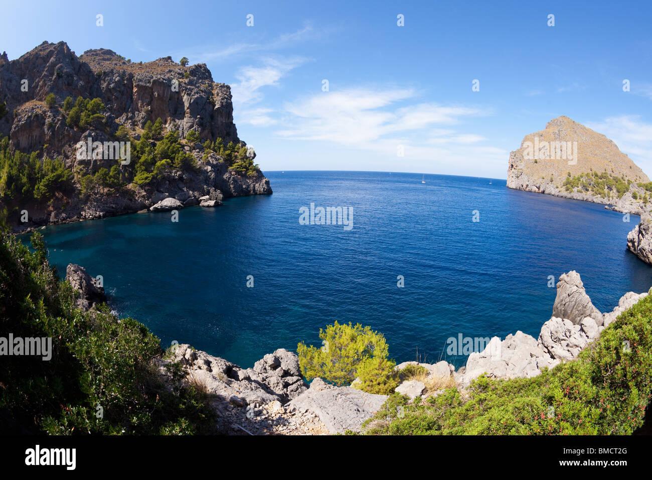 Sa Calobra northern Majorca Mallorca Balearic Islands Spain Europe EU - Stock Image