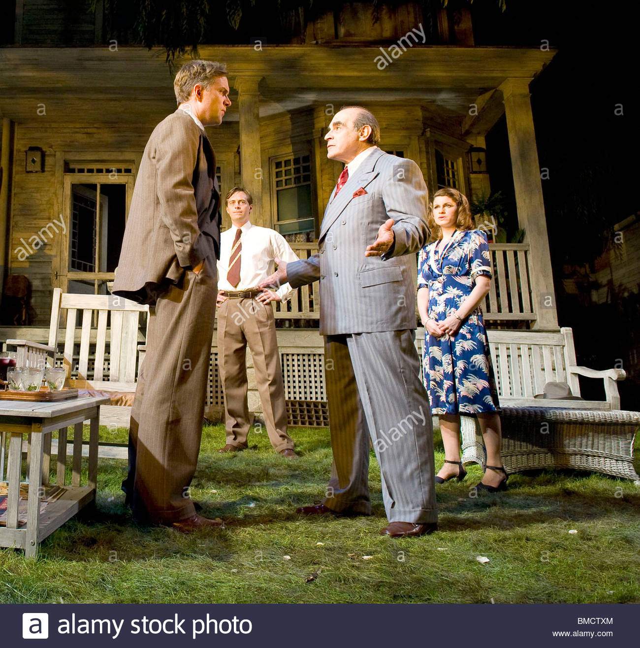 All My Sons by Arthur Miller,directed by Howard Davies.With Daniel Lapaine as George Deever ,David Suchet as Joe - Stock Image