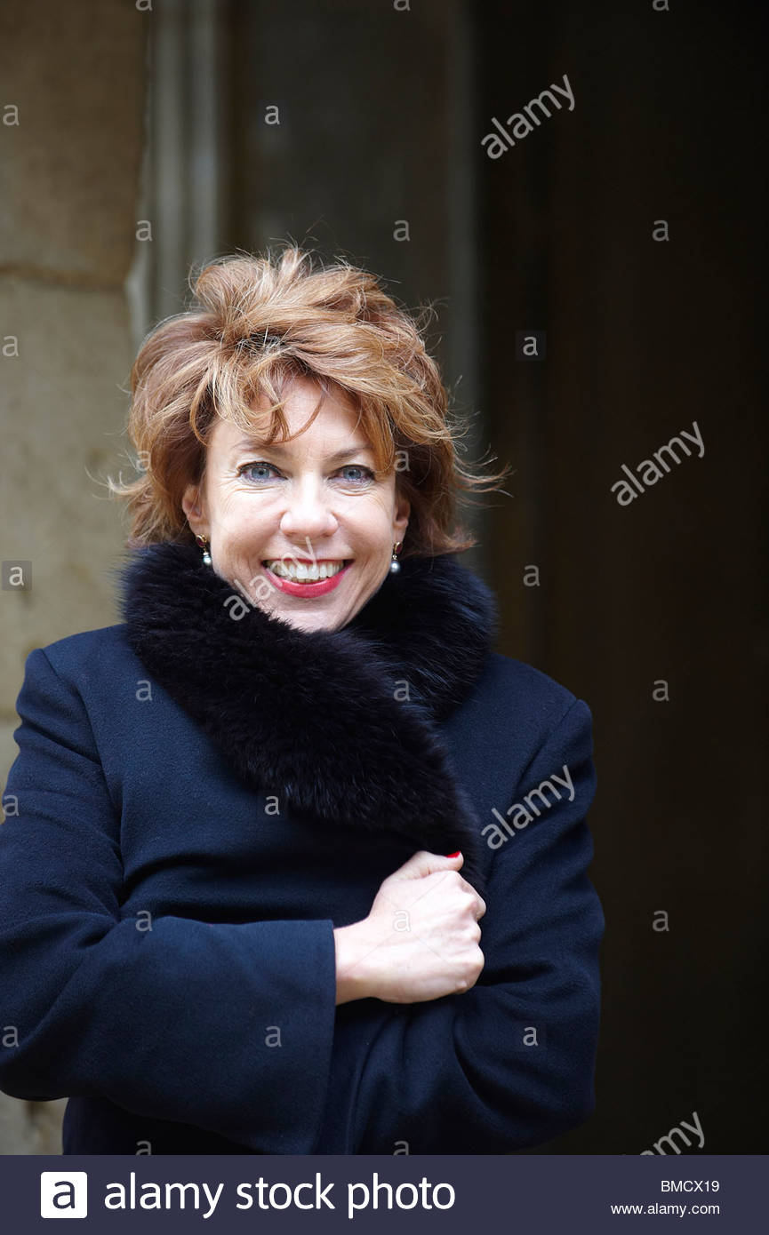 Kathy Lette,Australian author at Christchurch College at The Oxford Literary Festival 2010.CREDIT Geraint Lewis - Stock Image