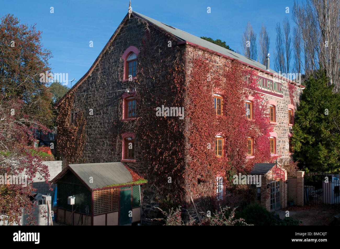 The Mill Inn at Carrick in the Tasmanian midlands is in a restored flour mill. - Stock Image