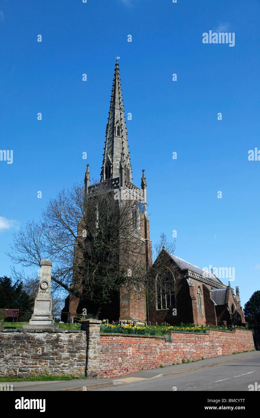 ALL SAINTS CHURCH BRAUNSTON NORTHAMPTONSHIRE NORTHAMPTONSHIRE ENGLAND BRAUNSTON NORTHAMPTONSHIRE 08 April 2010 - Stock Image